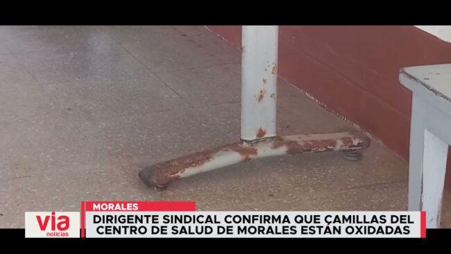 Confirman que camillas del Centro de Salud de Morales están oxidadas