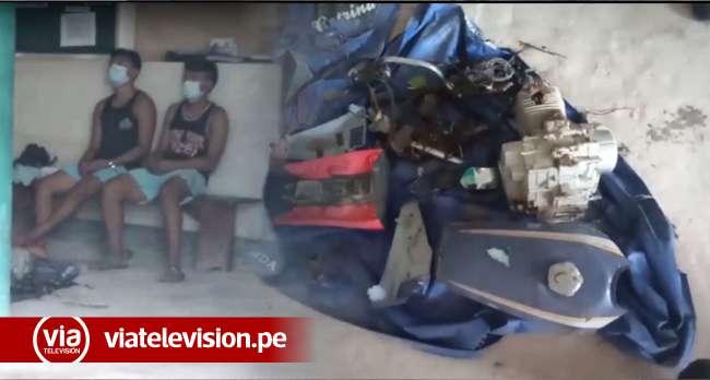 San Pablo: intervienen a tres jóvenes sindicados de hurtar un trimóvil