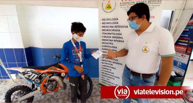 Tarapoto: se unen para apoyar a Joshua en campeonato de minicross