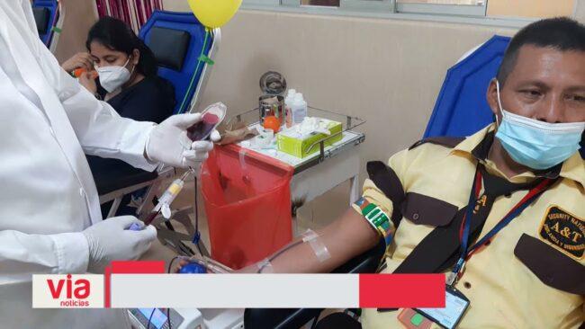 Realizan campaña de donación  voluntaria de sangre en hospital bandino