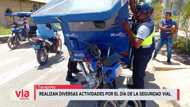 Tarapoto: realizan diversas actividades por el día de la seguridad vial