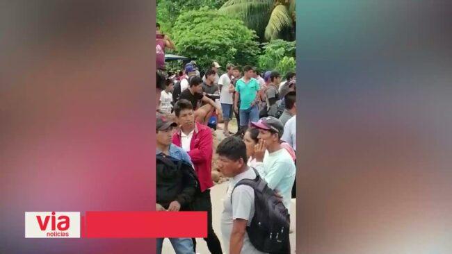 Restablecen tránsito vehicular a Yurimaguas luego de varias horas de bloqueo