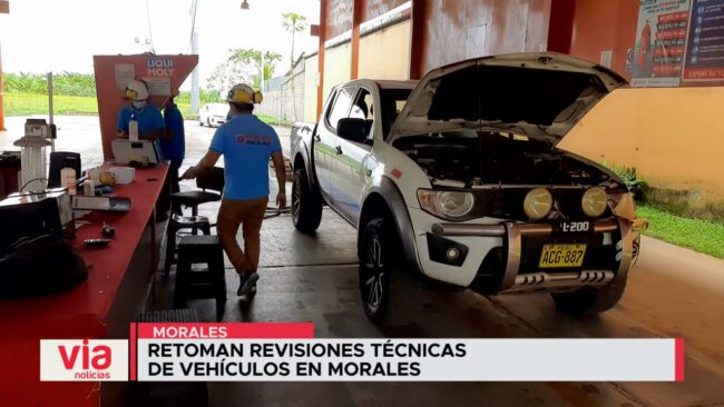 Retoman revisiones técnicas de vehículos en Morales