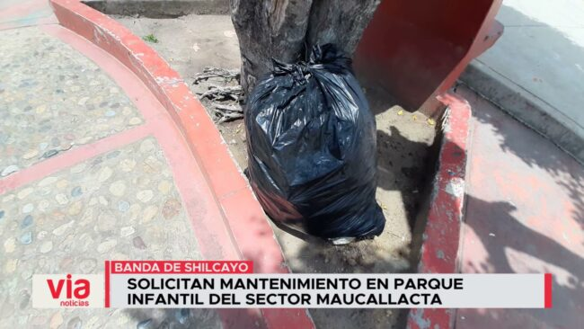 Solicitan mantenimiento en parque Infantil del sector Maucallacta