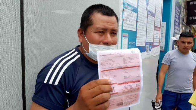 Tarapoto: más usuarios denuncian cobro excesivo en tarifas de agua