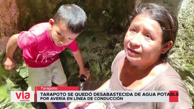 Tarapoto se quedó desabastecida de agua potable por avería en línea de conducción